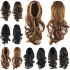 Synthetic Drawstring Wavy Ponytail Curly Bun Pony Tail Clip In Hair Extensions