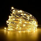 USA 100 LEDs USB Operated Mini Silver Copper Wire String Fairy Lights Lamp 10M