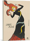 ARTCANVAS Jane Avril 1899 Canvas Art Print by Henri De Toulouse-Lautrec