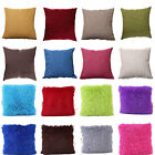 Fur Fluffy Plush Vintage Home Decor Square Sofa Throw Pillow Cases Cushion Cover