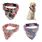 Cute Dog And Cat Detachable Triangle Collar Scarf Flower Decorative Saliva Towel