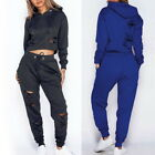 Women's Long Sleeve Solid Color Sports Set Fashion Slim Heights Cutout Suit