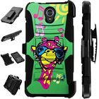 For Alcatel TCL LX (2018) Holster Case Armor Kickstand Phone Cover LuxGuard J10