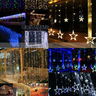 20-1500 LED Christmas Icicle String Star Curtain Hanging Lights Connectable Plug