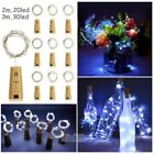Внешний вид - 9Pack 2M 3M Cork Shaped LED Copper Wire String Light Wine Bottle For Xmas Decor