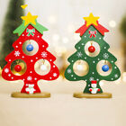 Wooden Small Christmas Tree Ornaments Mini Painted Plaque Home Decorations GIFT