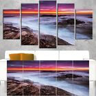 Stormy Seashore with Colorful Sky - Beach Canvas Wall Art