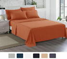 4 Piece Sheet Set Flat Fitted Pillow Cases  1500 Series At Linen Plus image