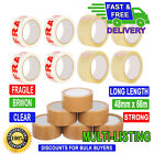 PACKING 2 4 6 12 24 36 72 Rolls Brown Buff Clear Fragile Packaging Tape 66Mx48mm