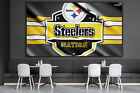 Pittsburgh Steelers NFL Wall Art Decor Design Canvas Print Poster