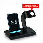 US 2in1 Qi Wireless Charger Fast Charging Dock Stand For Apple Watch iPhone X XS