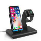US 2in1 Qi Wireless Charger Fast Charging Dock Stand For...