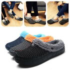 Couple cotton slippers thicken wooden shoes winter warm plush indoor slippers US