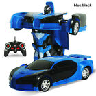 Gesture Sensing Remote Control Robot One Button Transformation Car Toy Gift