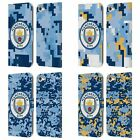 MAN CITY FC DIGITAL CAMOUFLAGE LEATHER BOOK CASE FOR APPLE iPOD TOUCH MP3