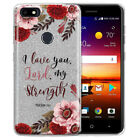 Bible Verses Shiny Silver Glitter Clear TPU Cover Case For ZTE Blade X Z965