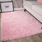 Soft Fluffy Thick Kids Pink Shaggy Rugs Baby Pink Shaggy Rug Non Shed Area Mats