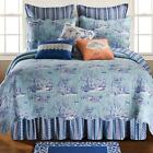 Hampstead Toile White/Blue Cotton/Polyester Bed Skirt image