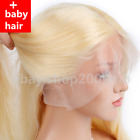 #613 Blonde Straight Lace Front Hair Wig Brazilian Pre plucked + Baby Hair Wigs