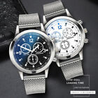 Luxury Men's Military Watches Analog Quartz Stainless Steel Big Dial Wrist Watch image