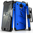 Zizo BOLT Case for Motorola Moto Z2 Force / Play w/ Holster and Tempered Glass