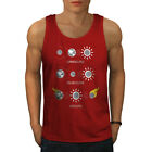 Wellcoda Eclipse Astronomy Mens Tank Top, Solar Funny Active Sports Shirt