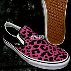 Vans SLIP ON LEOPARD PINK BLACK Men's Skate Shoes S8C132.112