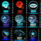 3D NFL Rugby Football Helmet Cap LED Night Light Table Lamp 7 Color Xmas Gift $17.68 USD on eBay