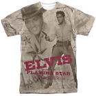 Authentic Elvis Presley Flaming Star Movie Sublimation Allover Front T-shirt top