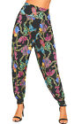 Womens Chain Scarf Print Elasticated Stretch Harem Baggy Trousers Ladies New