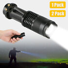 1/2X Waterproof LED Tactical Flashlight Military Torch 3 Modes Aluminum Zoomable