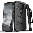 Zizo BOLT Case for Motorola Moto E5 Cruise / Play w/ Holster and Tempered Glass