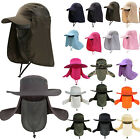 US Camping Fishing Hiking Hat UV Protect Face Neck Flap Sun Beekeeper Bucket Hat
