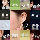925 Sterling Silver 3 Star Stud Earrings Ear Jewellery Women Uk Small Animal New