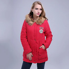 Winter women jacket thicken outwear hooded wadded coat slim parka cotton padded
