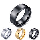 2019 Fashion Charm Jewelry Men Wedding Rings Titanium Black Gold Rings For Women