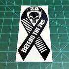 Defend The 2ND Ribbon 2A Second Amendment Patriotic American Decal Sticker
