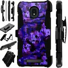 LUXGUARD For Onyx / Feller / Miro Phone Case Holster Cover ARTISTIC CAMO PURPLE