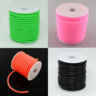 Hollow Wrapped Around White Plastic Spool Silicone Cord 5mm Hole 3mm about 10m