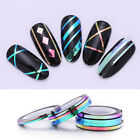4 Rolls/Set Chameleon Nail Striping Tape Adhesive Decals Nail Decors 1mm 2mm 3mm