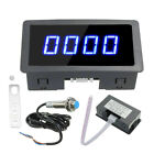 4 Digital Motor LED Tachometer RPM Speed Measure Gauge Meter Tester 9999 US