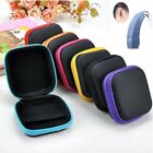 3 Colors Square Black Zip Storage Hearing Aid Case Hard Carry Case Holder