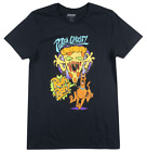 SCOOBY-DOO PIZZA GHOST T-SHIRT RETRO CARTOON GRAPHIC TEE MENS BLACK image
