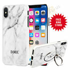 Personalised Marble Initials Phone Case Cover For iPhone Samsung Huawei 028-7