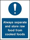 SAFETY SIGN Food Processing and Hygiene  - Adhesive Waterproof Vinyl Sticker