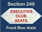 4/17 Dodgers vs Cincinnati Reds - 2 Tickets - Executive Club - FRONT ROW AISLE!! on Ebay