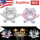 7Colors Crystal Glass Lotus Flower Candle Tea Ligh picture