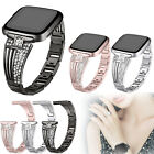 Lady Rhinestone Bling Replacement Wrist Band Watch Strap For Fitbit Versa Smart