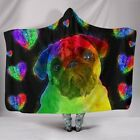 New Blanket Dog Lovers Love Pug Hooded Blanket for Lovers of Pugs and Dogs