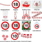 18TH BIRTHDAY TRAFFIC SIGNS THEME - COMPLETE PARTYWARE SELECTION
